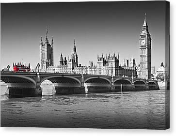 Westminster Bridge Canvas Print by Melanie Viola