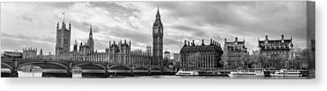Westminster Panorama Canvas Print by Heather Applegate