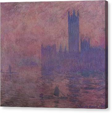 Westminster Tower Canvas Print by Claude Monet