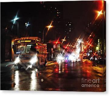 Wet City 4 Canvas Print by Sarah Loft
