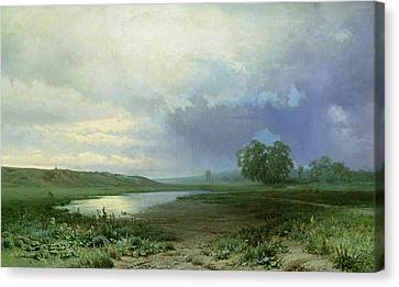 Wet Meadow Canvas Print by Fedor Aleksandrovich Vasiliev