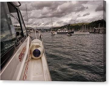 Wet Wheels Boat In Dartmouth Canvas Print by Jay Lethbridge
