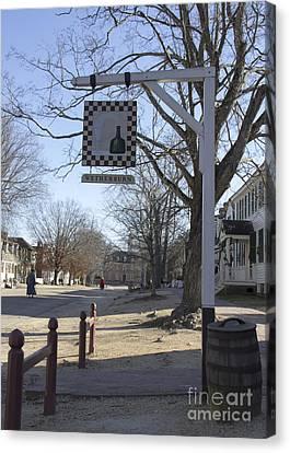 Wetherburn Tavern Sign Williamsburg Virginia Canvas Print by Teresa Mucha