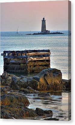 Whaleback Lighthouse Canvas Print by Brett Pelletier