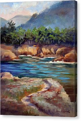 Whalers Cove Point Lobos Canvas Print by Karin  Leonard