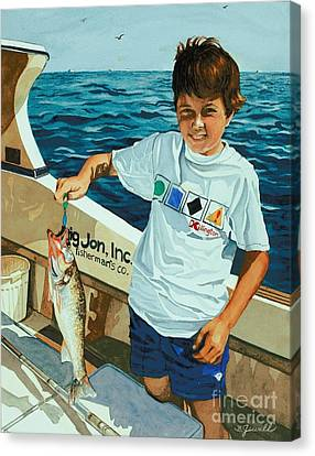 What A Catch Canvas Print by Barbara Jewell