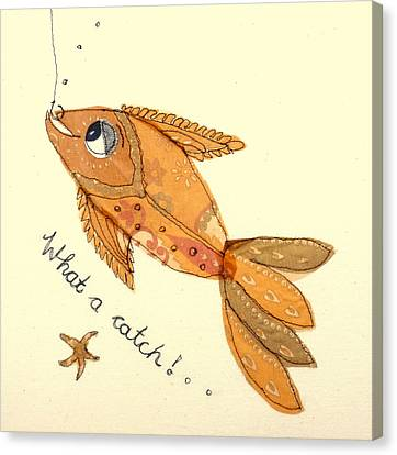 What A Catch Canvas Print by Hazel Millington