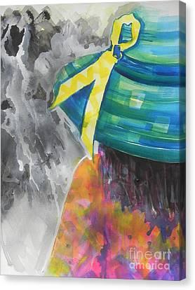 What Lies Ahead Series....chaos  Canvas Print by Chrisann Ellis