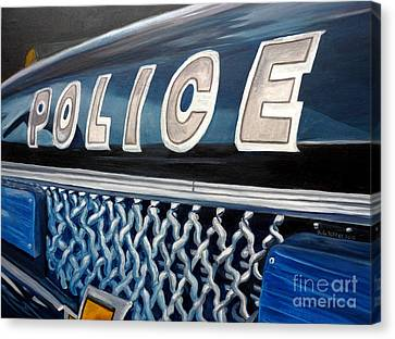 Whatcha Gonna Do When They Come For You? Canvas Print by Julie Brugh Riffey