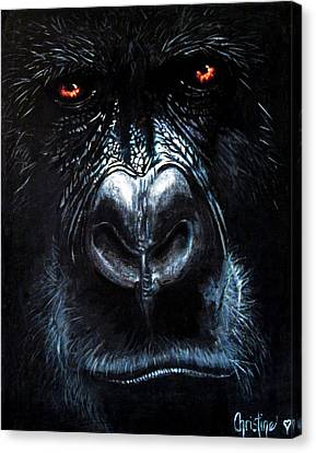 Whats Troubling Gus Canvas Print by Christine Cholowsky