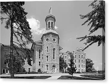 Wheaton College Blanchard Hall Canvas Print by University Icons
