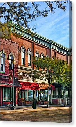 Wheaton Front Street Stores Canvas Print by Christopher Arndt