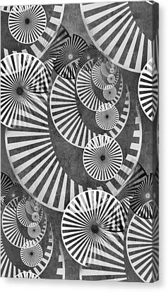 Wheel In The Sky Bw Canvas Print by Angelina Vick