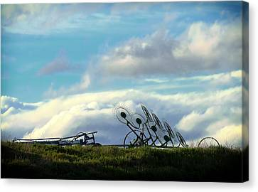 Wheels In The Sky Canvas Print by Jess Williams