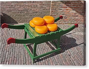 Wheels Of Dutch Gouda Cheese Canvas Print by Artur Bogacki