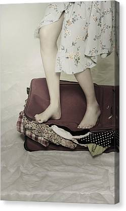 When A Woman Travels Canvas Print by Joana Kruse