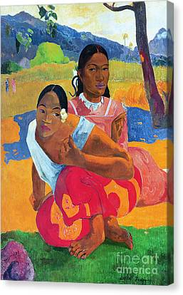 When Are You Getting Married Canvas Print by Paul Gauguin