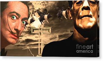 When Dali Met Frankenstein 20141215 Canvas Print by Wingsdomain Art and Photography