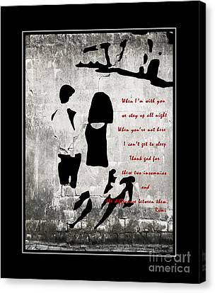 When I'm With You Canvas Print by Barbara Griffin