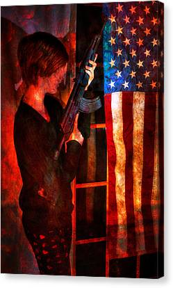 When It Is Dark Enough You Can See The Stars - Ak-47 Canvas Print by Geoffrey Coelho