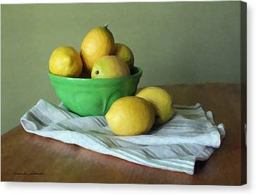 When Life Gives You Lemons Canvas Print by Susan Schroeder