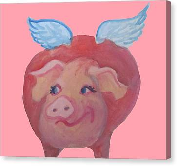 When Pigs Fly Canvas Print by Cherie Sexsmith