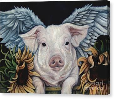 When Pigs Fly Canvas Print by Lorraine Davis Martin