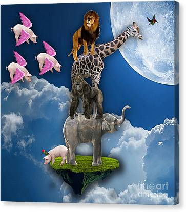 When Pigs Fly Canvas Print by Marvin Blaine