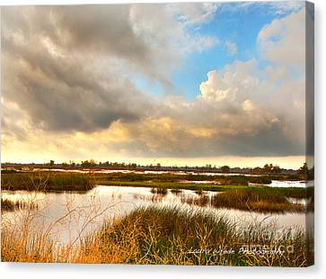 When The Rain Stopped Over Gray Lodge Canvas Print by Artist and Photographer Laura Wrede
