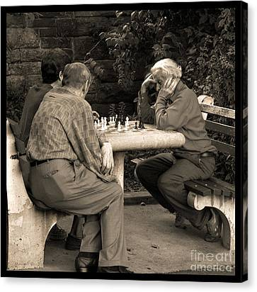 Where Is Bobby Fischer Canvas Print by Madeline Ellis