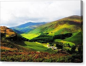 Where Is Soul Flying. Wicklow Mountains. Ireland Canvas Print by Jenny Rainbow