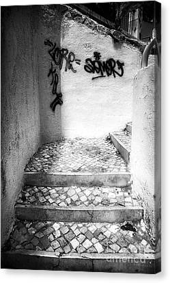Where The Stairs May Lead Canvas Print by John Rizzuto
