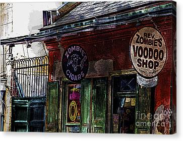 Where Zombies Meets Voodoo  Canvas Print by Douglas Barnard