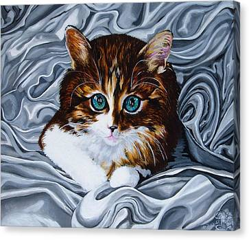 Whiskers The Cat Canvas Print by Annette Jimerson