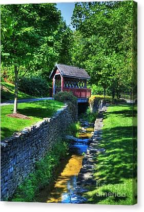 Whisky Creek Bridge Canvas Print by Mel Steinhauer