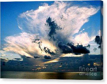 Whispers From The Heavens Off The Coast Of Louisiana Canvas Print by Michael Hoard
