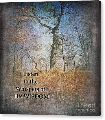 Whispers Of Wisdom Canvas Print by Pamela Baker