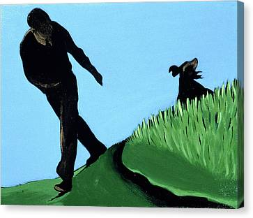 Whistling Him Back, 1997 Canvas Print by Marjorie Weiss