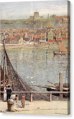 Whitby Canvas Print by Albert Goodwin