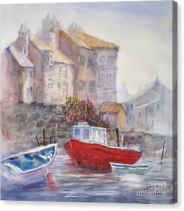 Whitby Harbour Canvas Print by Mohamed Hirji