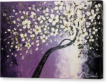 White  Blossoms Canvas Print by Tomoko Koyama