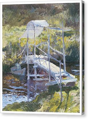 White Bridge Canvas Print by John Twachtman