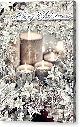 White Christmas Canvas Print by Mo T