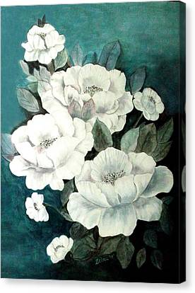 White Flowers Canvas Print by Zelma Hensel