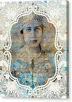 White Lace Canvas Print by Judy Wood