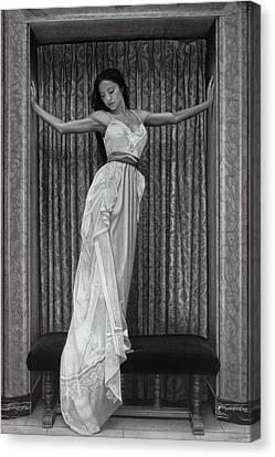 White Lace Canvas Print by Tim Dangaran