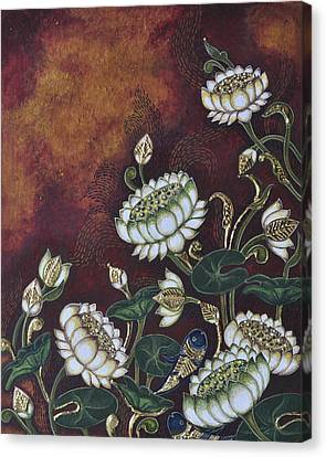White Lotus Canvas Print by Sucheta Misra