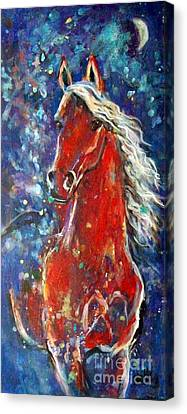 White Mane Canvas Print by Relly Peckett