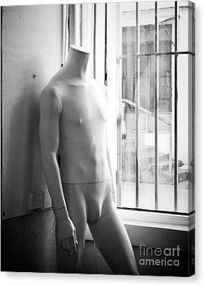 White Mannequin Canvas Print by Sonja Quintero