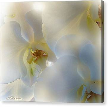 White Orchids Canvas Print by Mikki Cucuzzo